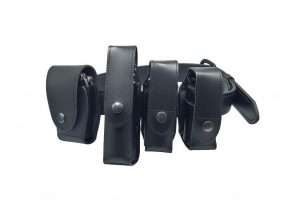 AUTHORITIES LEATHER GAS SRAY HOLDERS